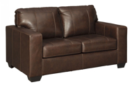 Picture of Morelos Leather Chocolate Loveseat