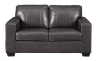 Picture of Morelos Leather Gray Loveseat