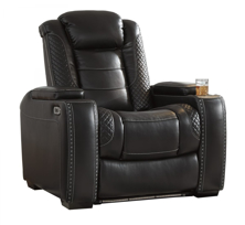 Picture of Party Time Midnight Power Recliner With Adjustable Headrest