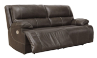 Picture of Ricmen Walnut Leather Power Reclining Sofa with Adjustable Headrest