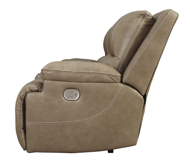 Picture of Ricmen Putty Leather Power Reclining Loveseat With Adjustable Headrest