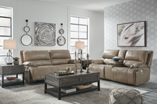 Picture of Ricmen Putty 2-Piece Leather Power Reclining Living Room Set