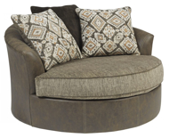 Picture of Abalone Chocolate Oversized Swivel Accent Chair