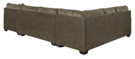 Picture of Abalone Chocolate 3-Piece Right Arm Facin Sectional