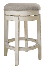 "Picture of Realyn 24"" Upholstered Swivel Barstool"
