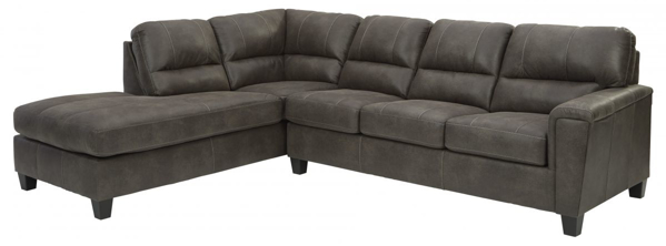 Picture of Navi Smoke 2-Piece Left Arm Facing Sectional