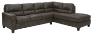 Picture of Navi Smoke 2-Piece Right Arm Facing Sectional