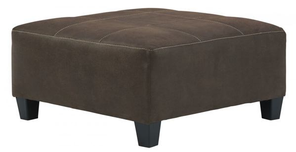 Picture of Navi Chestnut Oversized Accent Ottoman