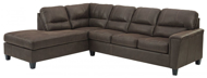 Picture of Navi Chestnut 2-Piece Left Arm Facing Sleeper Sectional