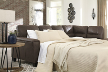 Picture of Navi Chestnut 2-Piece Right Arm Facing Sleeper Sectional