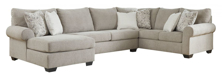 Picture of Baranello Stone 3-Piece Left Arm Facing Sectional