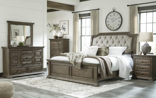 Picture of Wyndahl 6-Piece King Upholstered Bedroom Set