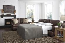 Picture of Bearmerton Leather Queen Sofa Sleeper