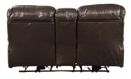 Picture of Hallstrung Chocolate Leather Power Reclining Loveseat