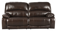 Picture of Hallstrung Chocolate Leather Power Reclining Sofa