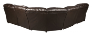Picture of Hallstrung Chocolate Leather 6-Piece Right Arm Facing Power Reclining Sectional