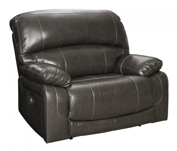 Picture of Hallstrung Gray Leather Power Recliner