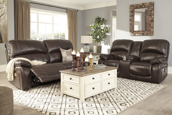 Picture of Hallstrung Chocolate Leather 2-Piece Living Room