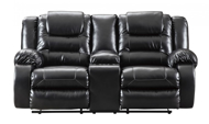 Picture of Vacherie Black Reclining Loveseat