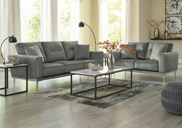 Picture of Macleary Steel 2-Piece Living Room Set