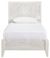 Picture of Paxberry White Twin Panel Bed