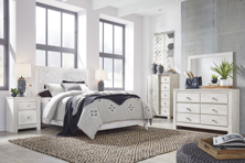 Picture of Paxberry White 6-Piece Queen Panel Bedroom Set