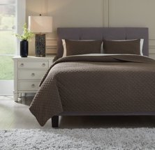 Picture of Ryter Brown Queen Coverlet Set