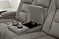 Picture of The Man-Den Gray Power Reclining Loveseat With Adjustable Headrest