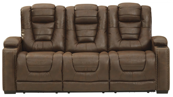 Picture of Owner's Box Power Reclining Sofa With Adjustable Headrest