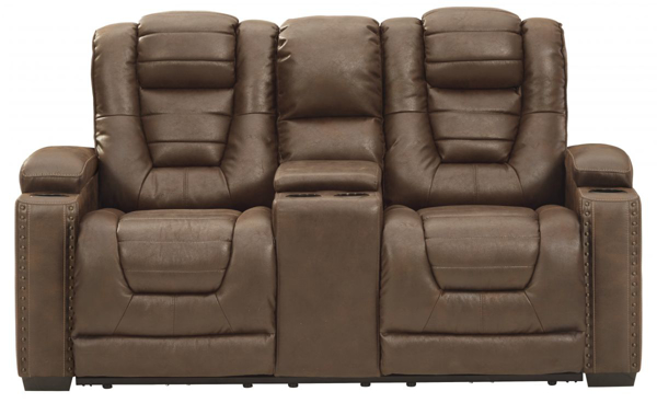 Picture of Owners Box Power Reclining Loveseat With Adjustable Headrest