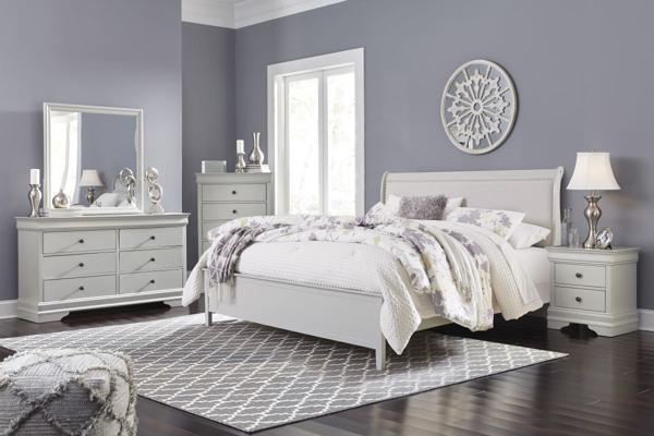 Picture of Jorstad 6-Piece King Sleigh Bedroom Set