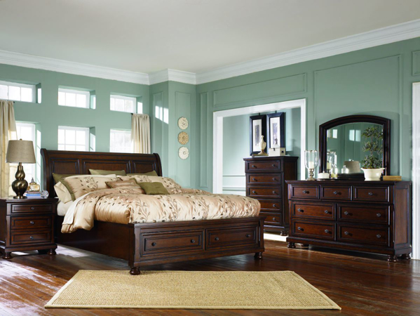Picture of Porter 6 Piece Sleigh Bedroom Set