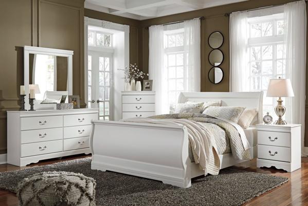 Picture of Anarasia 6 Piece Sleigh Bedroom Set