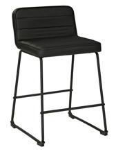 "Picture of Nerison Black 24"" Upholstered Barstool"
