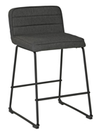 "Picture of Nerison Gray 24"" Upholstered Barstool"