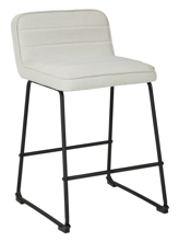 "Picture of Nerison Beige 24"" Upholstered Barstool"