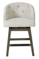 "Picture of Tripton Linen 24"" Uph Swivel Barstool"