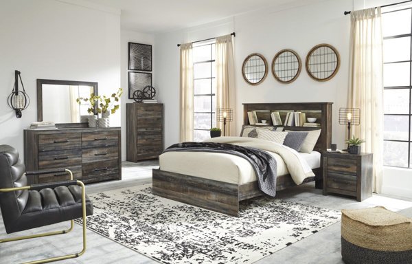 Picture of Drystan 6 Piece Bookcase Bedroom Set