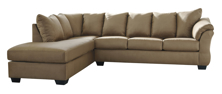 Picture of Darcy Mocha 2-Piece Left Arm Facing Sectional