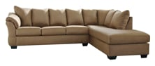 Picture of Darcy Mocha 2-Piece Right Arm Facing Sectional