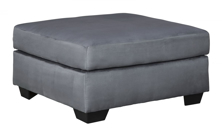 Picture of Darcy Steel Oversized Accent Ottoman