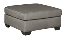Picture of Darcy Cobblestone Oversized Accent Ottoman