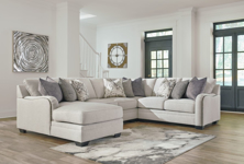 Picture of Dellara Chalk 4-Piece Left Arm Facing Sectional