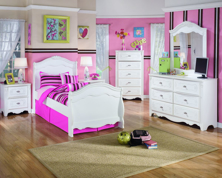 Picture of Exquisite 6-Piece Sleigh Youth Bedroom Set