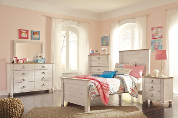 Picture of Willowton 6-Piece Youth Panel Bedroom Set