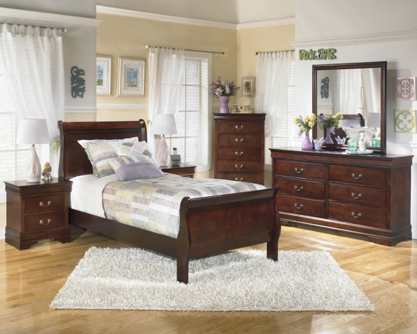 Picture of Alisdair 6-Piece Youth Sleigh Bedroom Set