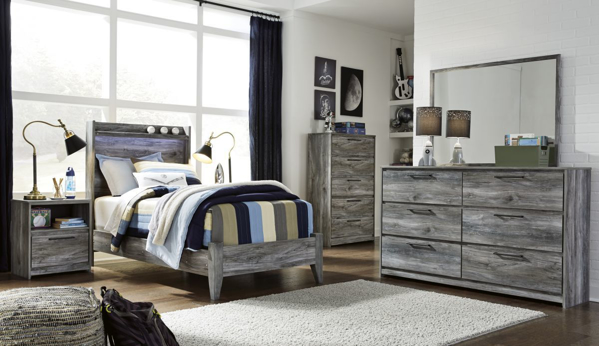 Picture of Baystorm 6-Piece Youth Panel Bedroom Set