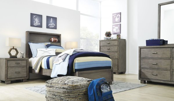 Picture of Arnett 6-Piece Youth Bookcase Bedroom Set