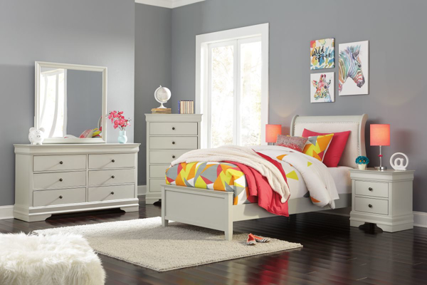 Picture of Jorstad 6-Piece Youth Sleigh Bedroom Set