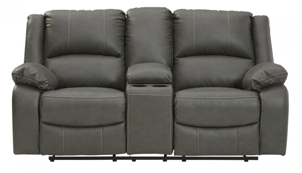 Picture of Calderwell Gray Reclining Loveseat